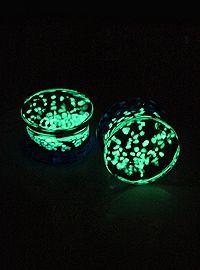 glow in the dark plugs from hot topic