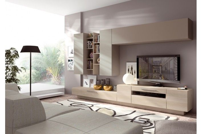 Mueble De Salón Modular Nórdico/ Visón   Merkamueble