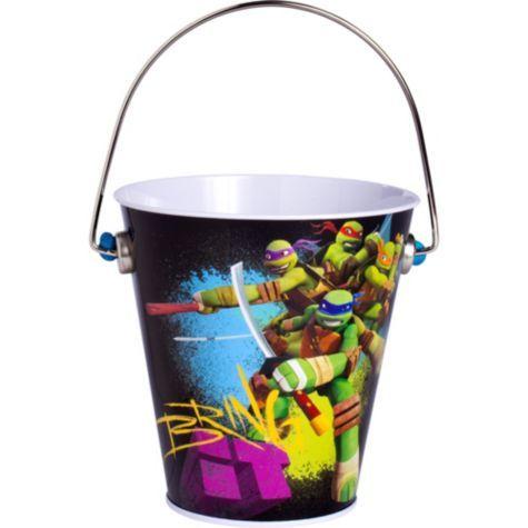 Teenage Mutant Ninja Turtles Metal Pail Party Ci Ninja Turtle Party Supplies Teenage Mutant Ninja Turtle Birthday Teenage Mutant Ninja Turtles Birthday Party