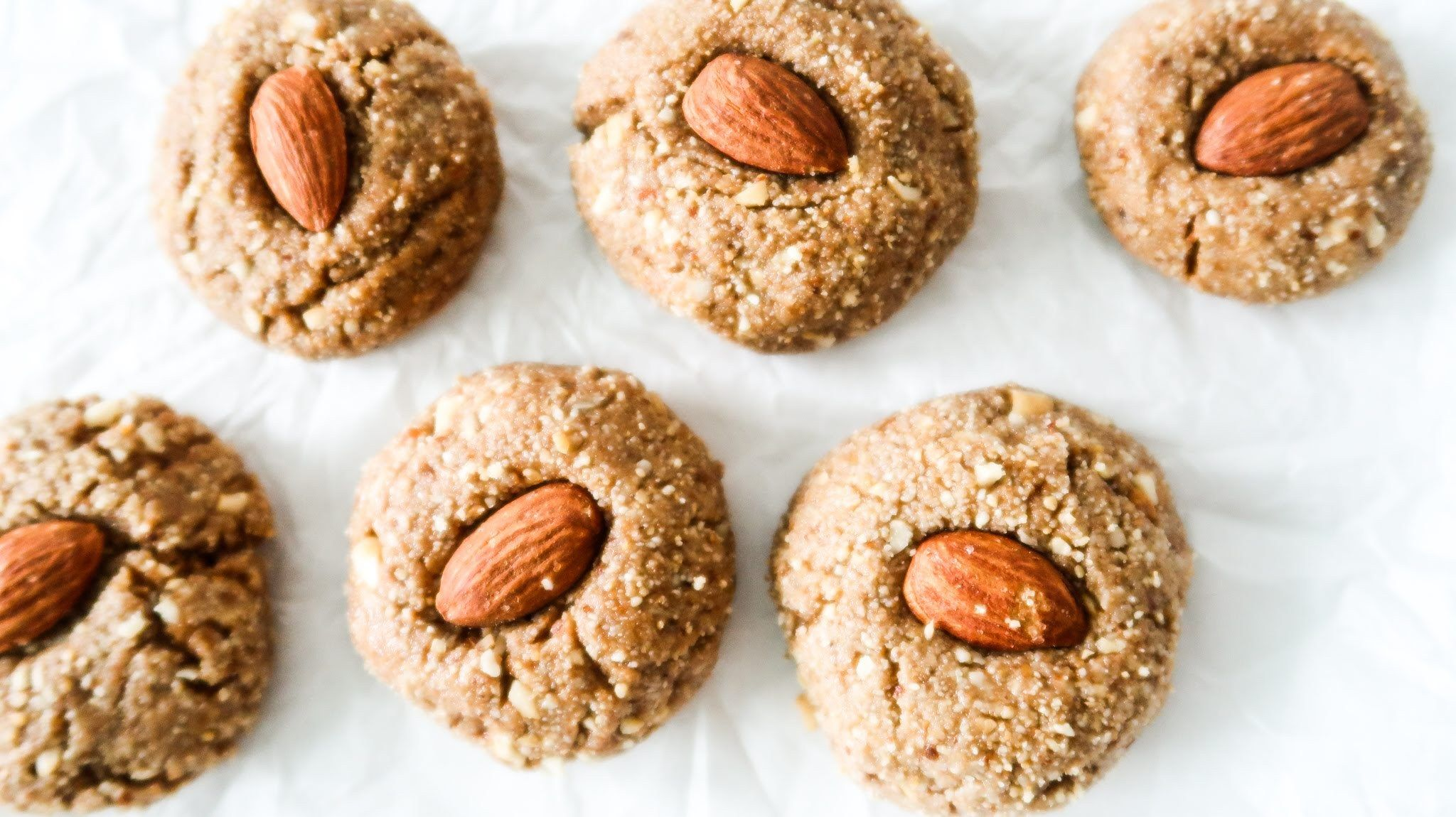 Healthy nobake cookies with almond butter recipe in