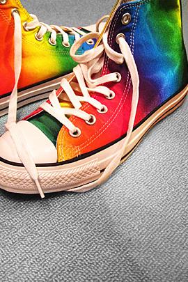 Pin by Kathy Card Tynon on Beautiful   Rainbow shoes