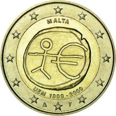 2 Euro CuNi 10 Jahre Europäische WWU UN
