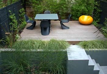 modular garden design example 3 small terraced garden - Small Garden Design Examples
