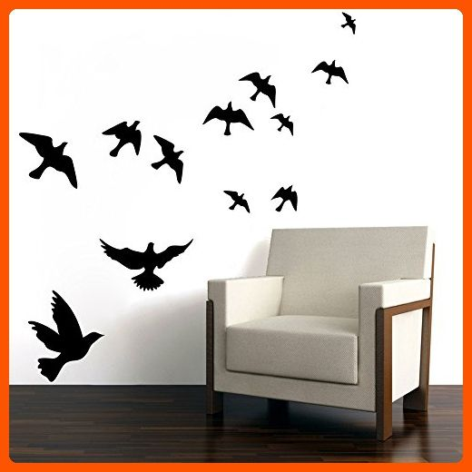 Mlm flying black bird flying high to sky 3d creative removable diy vinyl wall sticker mural