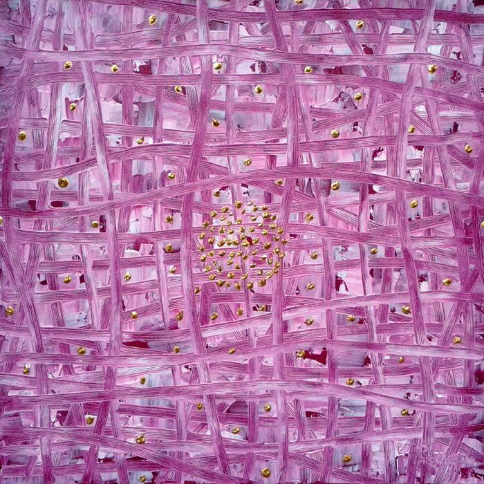 Boris Pecigoš: Mandala 8#, 2013, acrylic on canvas, 60×60 cm