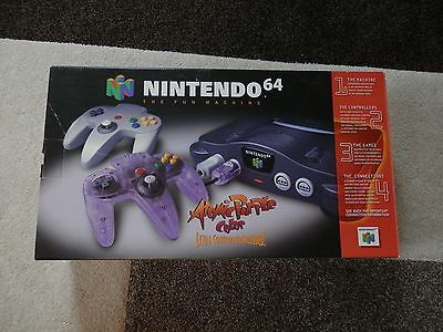 NINTENDO 64 N64 CONSOLE COMPLETE IN BOX WITH MANUAL MINTY ATOMIC PURPLE CIB NES  https://t.co/lT0kSQpxVY https://t.co/zAXk2GQkpL