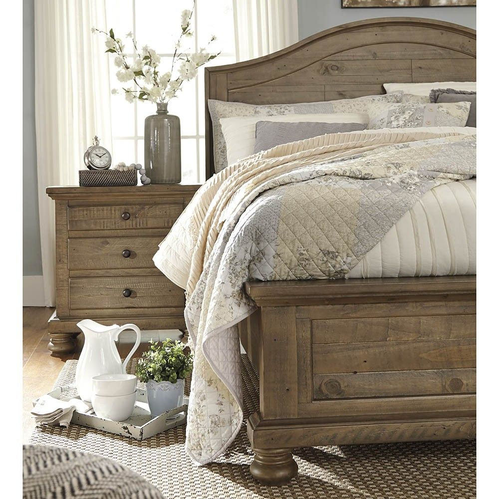 Trishley Queen Bed Frame Ashley Furniture Farm House Bedroom