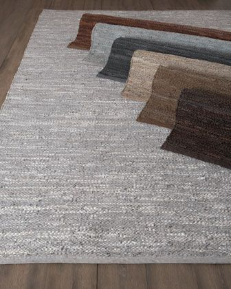 Woven Leather Rug, 8\u0027 X 11\u0027 By Exquisite Rugs At Horchow