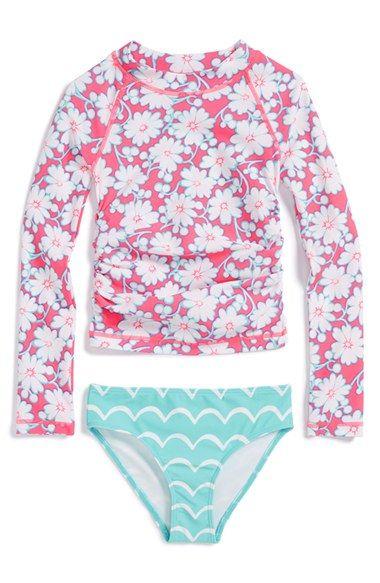 61e43d6068 Tucker + Tate Two-Piece Rashguard Swimsuit (Toddler Girls, Little Girls &  Big Girls) available at #Nordstrom