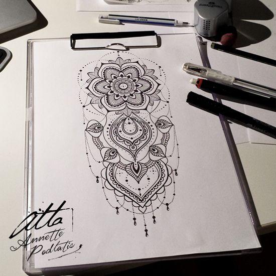 Mandala Sketch by myAtta-art on DeviantArt