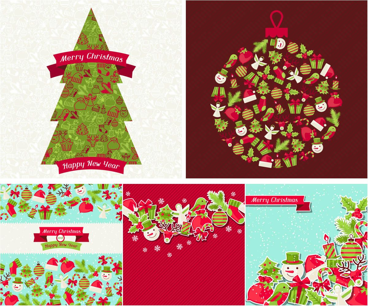 Ordinaire Merry Christmas Vector Backgrounds
