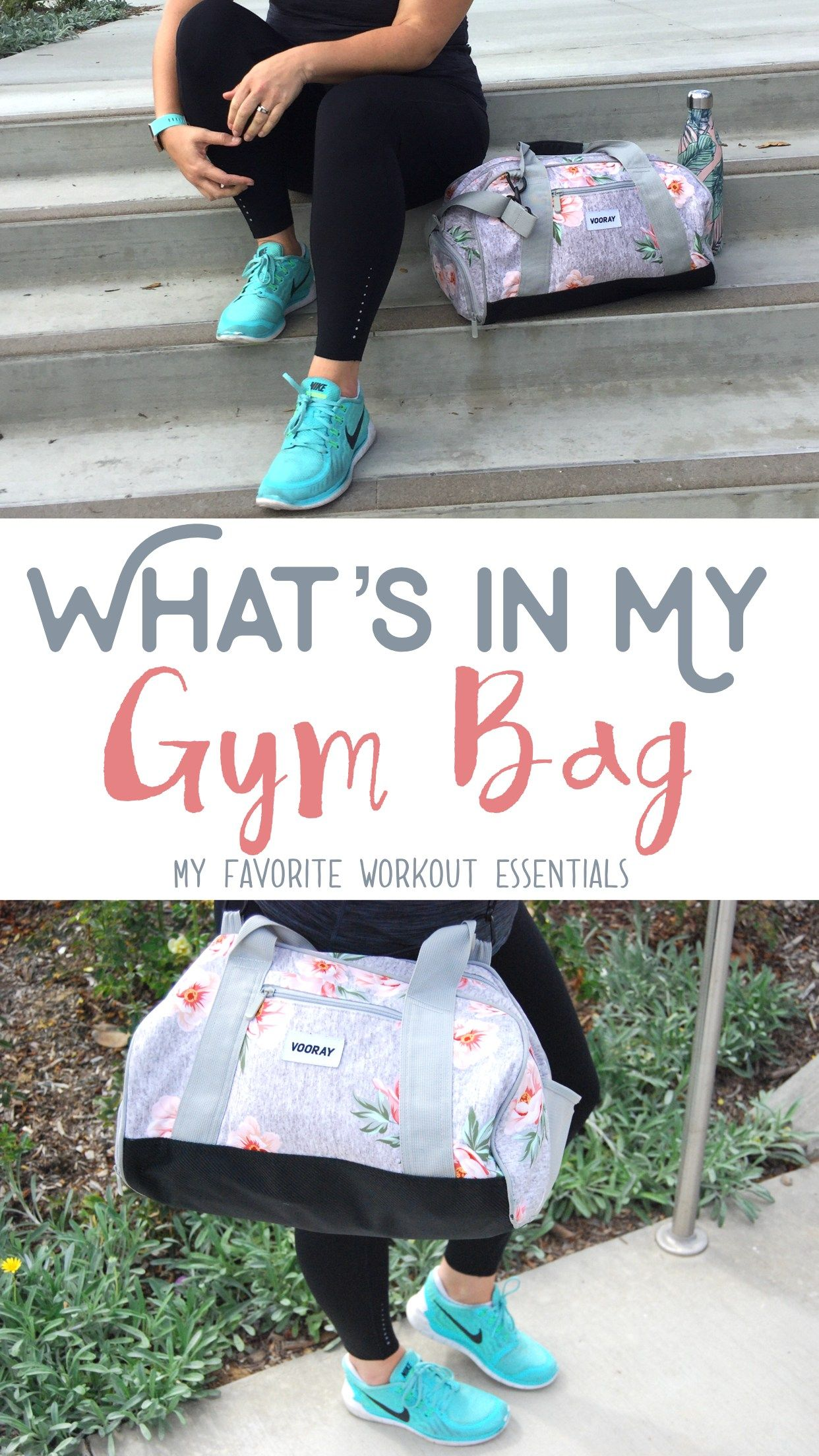 8c3defb0cdd290 A peek into my gym bag! These are my favorite workout essentials that keep  me prepared and organized at the gym. This gym bag is super cute, ...