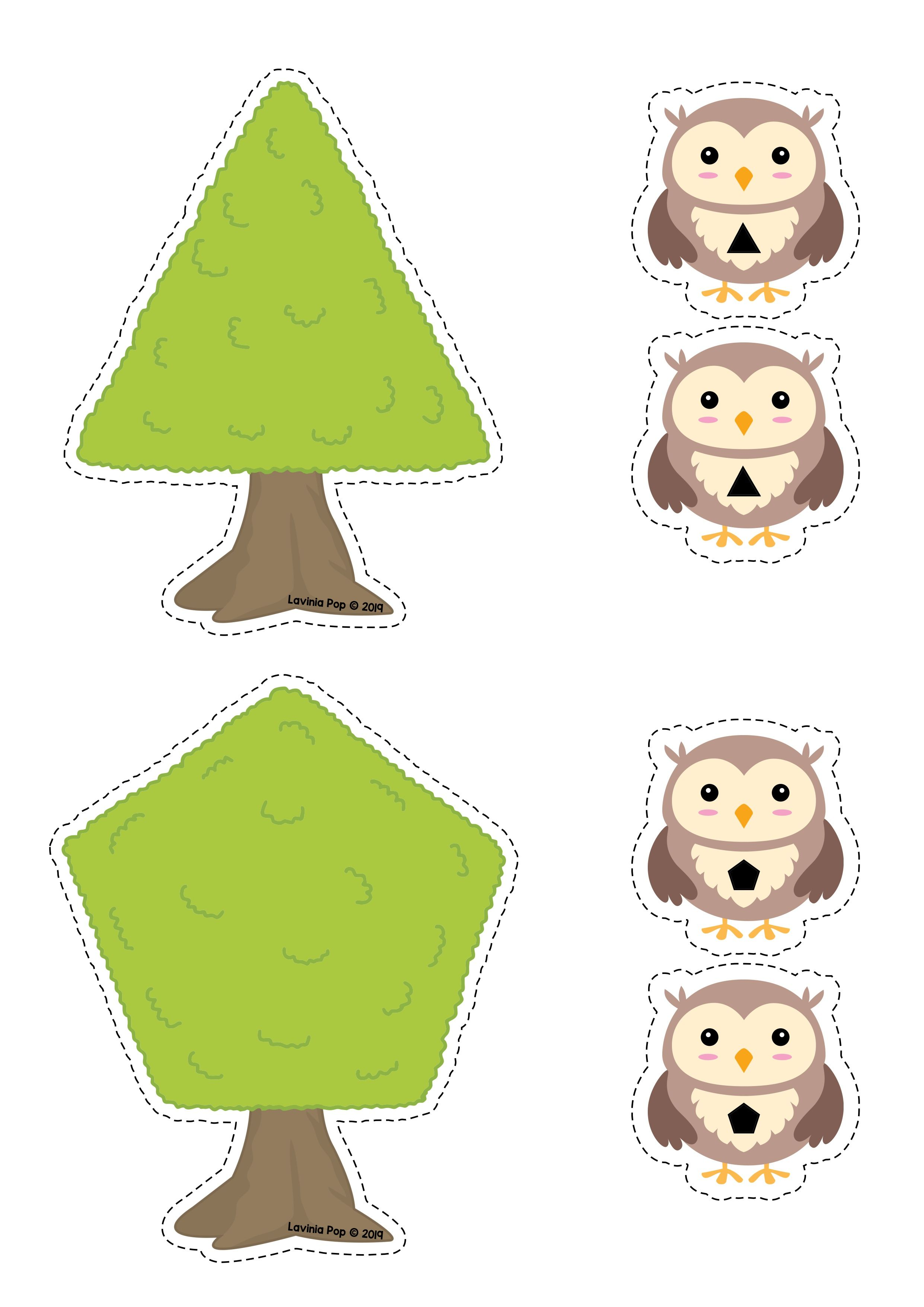 Camping Preschool Centers By Lavinia Pop Owl And Tree
