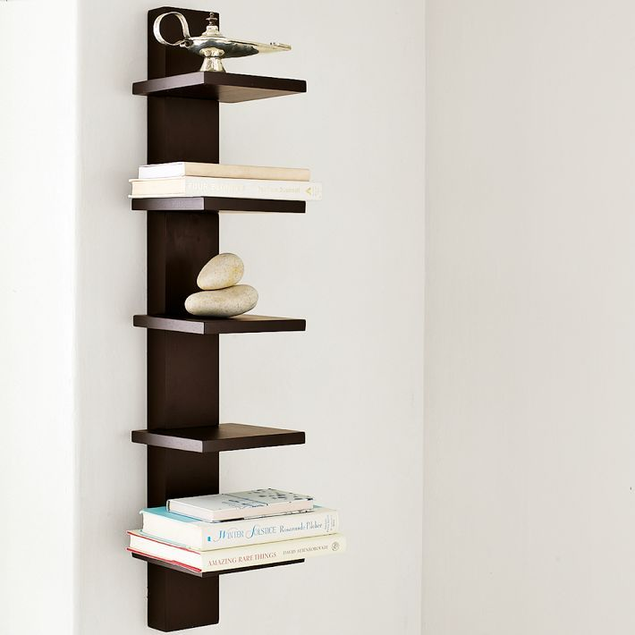 Narrow Wall Mounted Shelves From West Elm 79 00 Wall Shelves Floating Shelves Floating Shelves Diy