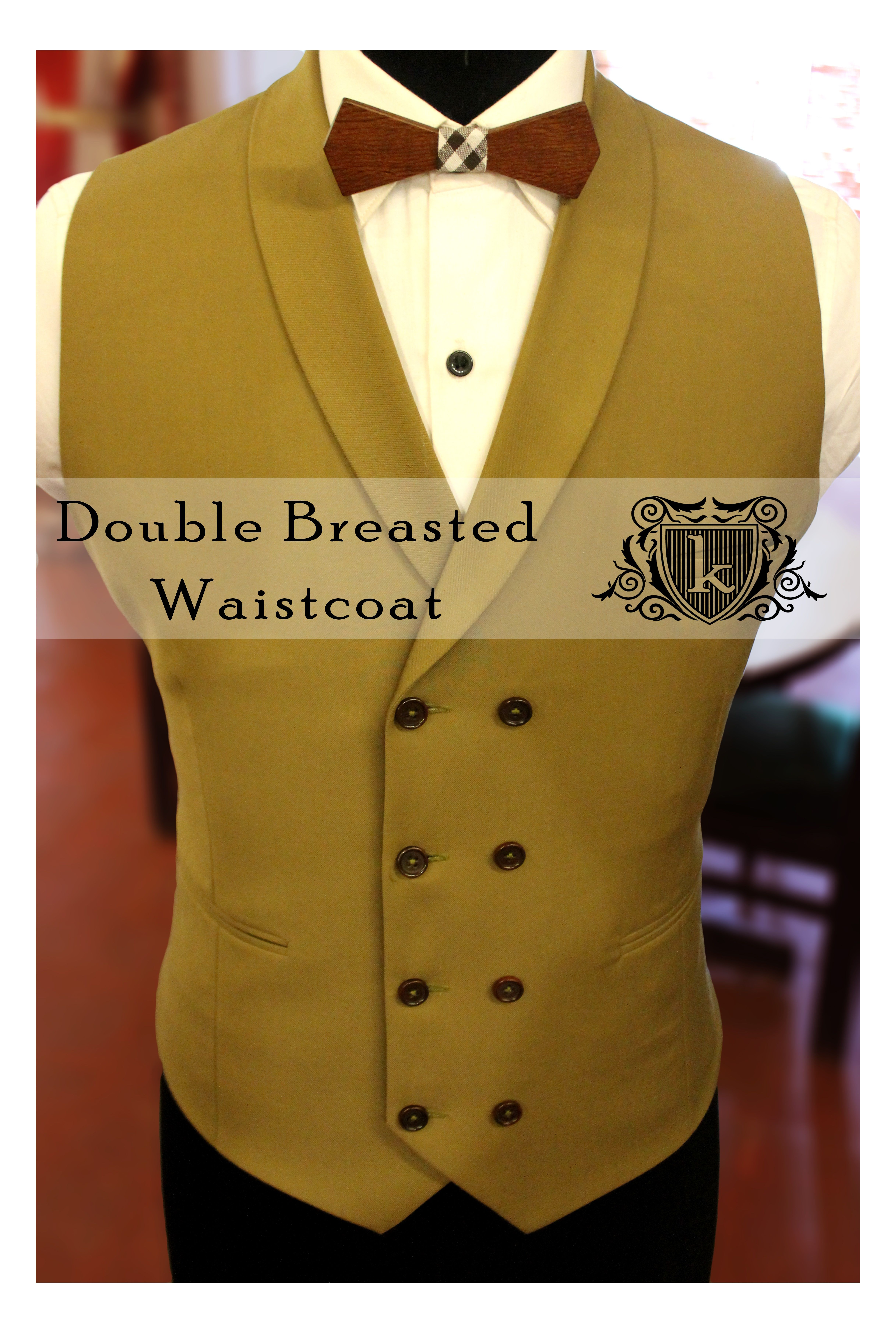 Waist Coat Wooden Bow Tuxedo Cocktail Outfit Inner Waistcoat Double breasted  Suit Double Breasted Waistcoat Craftsmanship Handmade Handcut Bespoke ... ff04e4d63