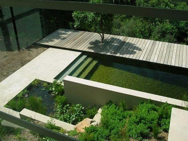 Ideen Landschaft Pool Pond Kombination Gartengestaltung