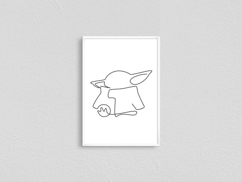 Grogu Baby Stencil Stencils YD Style Inspirational Stencil Pattern Designer Stencil Designer Inspired Stencil