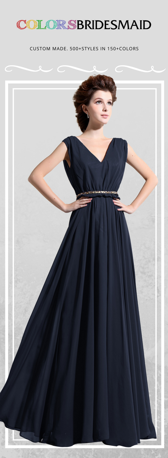 Colsbm cordelia navy blue bridesmaid dresses in elegant