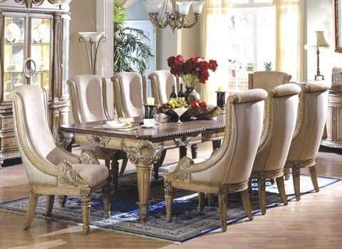 . McFerran Home Furnishings   RD300 Dining Collection 7 Piece Set