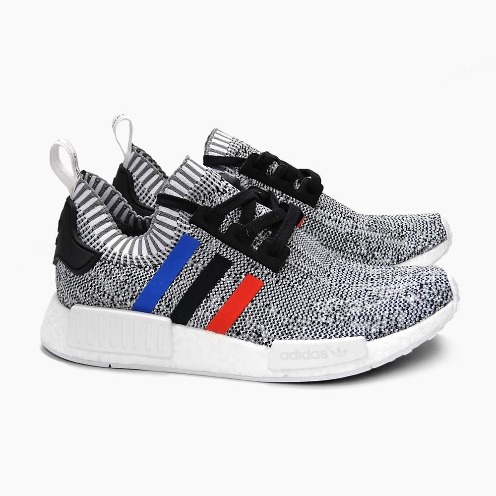 Adidas Nmd R1 Primeknit Tri Color Grey White Bb28888 Men Shoes