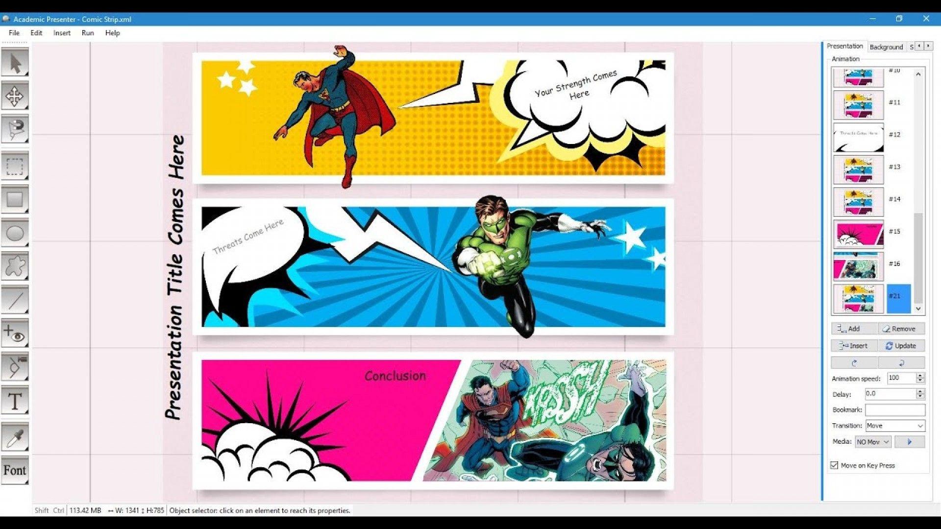 comic book template word
