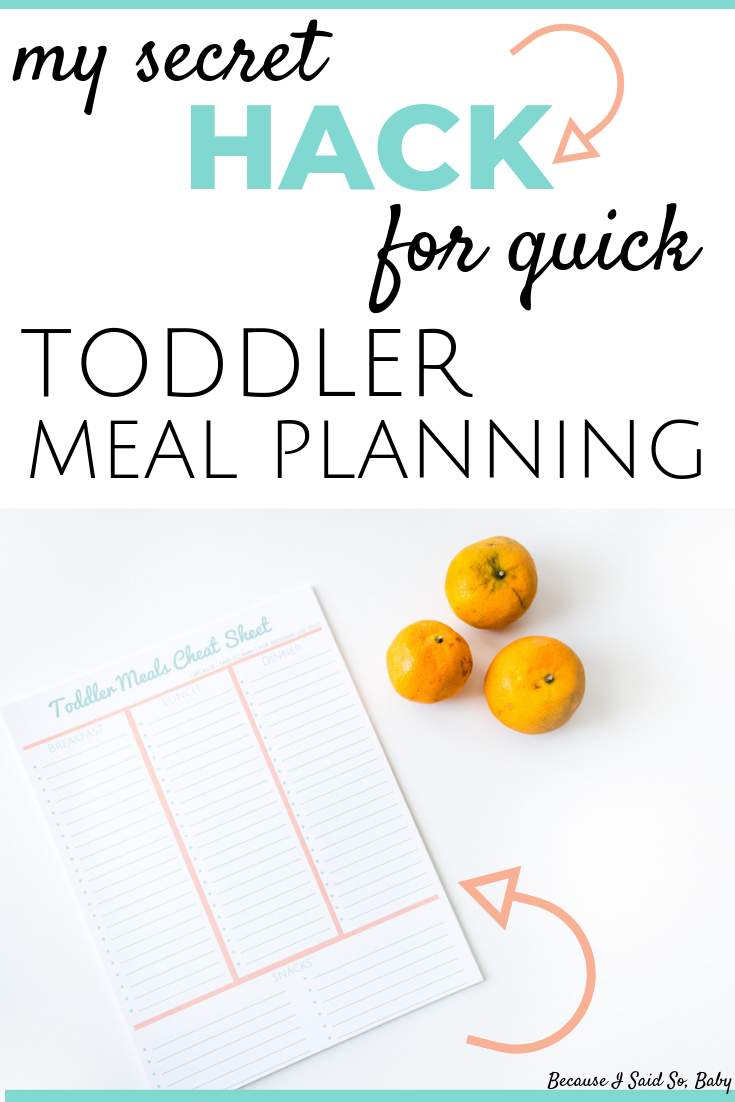 Toddler Meal Planning Cheat Sheet images