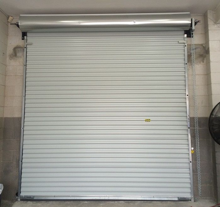 After Shot From A Commercial Roll Up Garage Door Installation