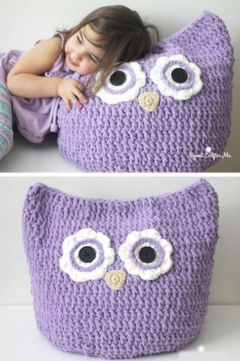 Crochet Oversized Owl Pillow - Free Pattern (Crochet For Children ...