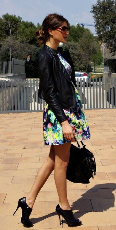 Lady Rock  , Vogue in Glasses / Sunglasses, Zara in Jackets, Zara in Dresses, Dolce & Gabbana in Bags, Gucci in Ankle Boots / Booties