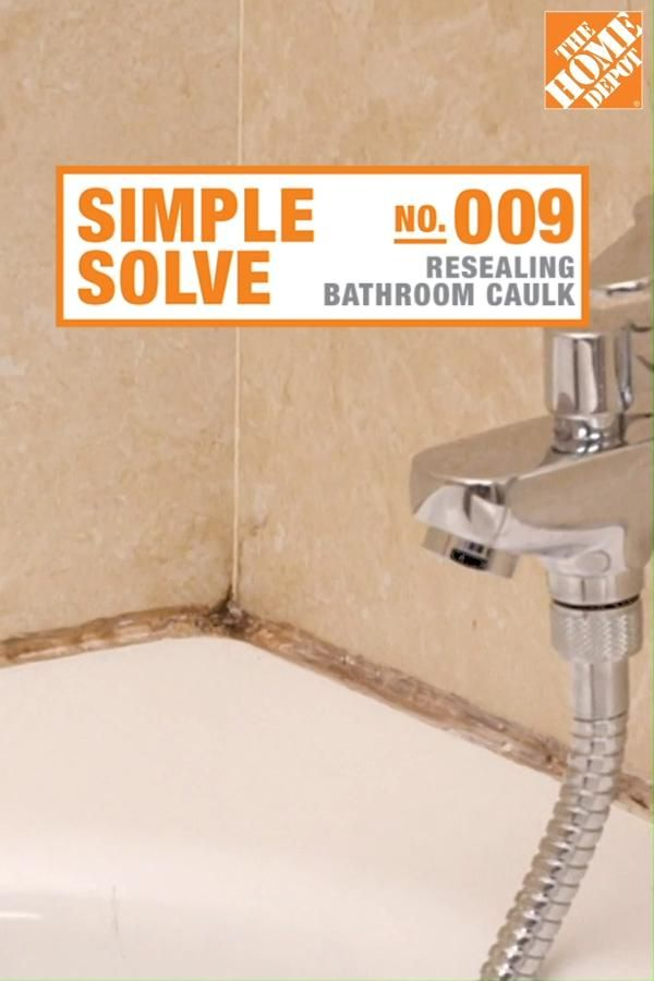 Caulk resealing: an easy bathroom refresh to tackle while at home
