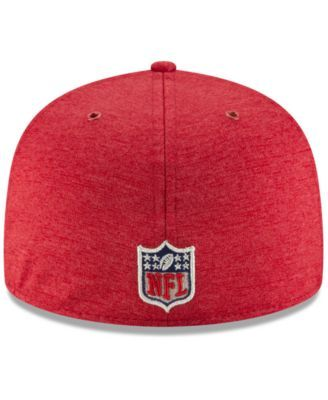 1cbb116e20a New Era Boys  Atlanta Falcons On Field Sideline Home 59FIFTY Fitted Cap -  Red Black 6 3 8