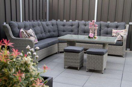 Lounge diningset #richmond white grey #heerlijkloungen #loungeset