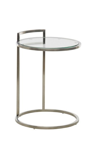 e8c76bdaa84 Meadow Stainless Steel Round Side Table Modern Furniture