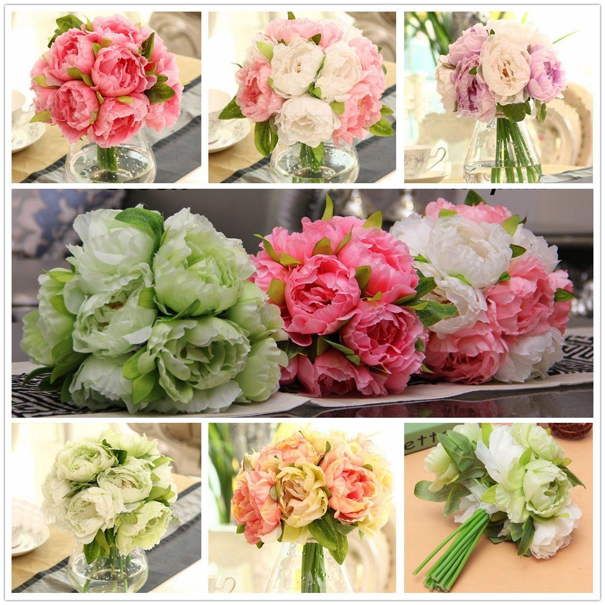 10 heads artificial silk flower peony wedding bouquet party home 10 heads artificial silk flower peony wedding bouquet party home decoration mightylinksfo