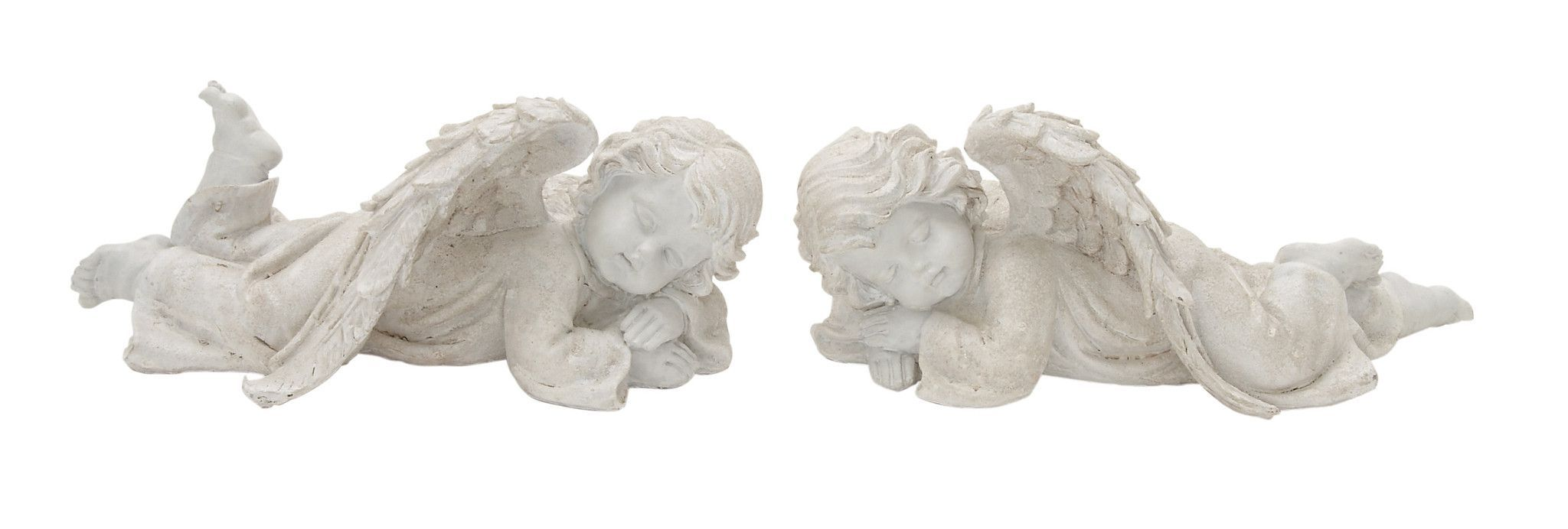 "Endearing Polyresin Angel Set Of 2 13"""" 12""""W"