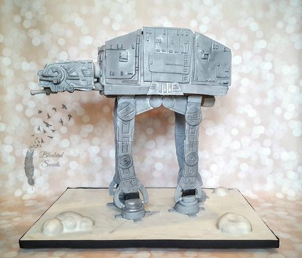gravity defying Star Wars AT AT Imperial Walker Cake!