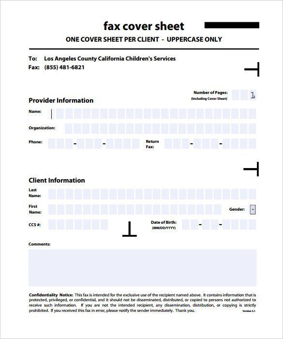 sle fax cover sheet template printable editable pdf doc News to Go