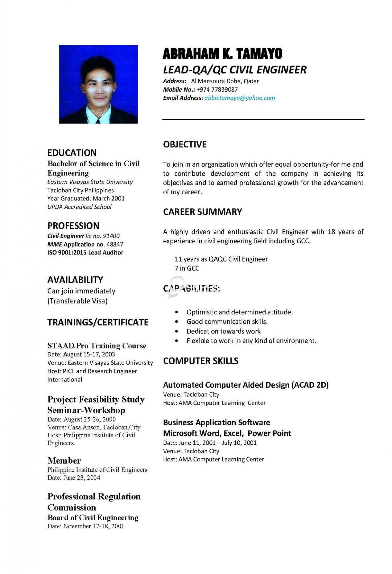 15 Qa Qc Engineer Resume Engineering Resume Bachelor Of Engineering Engineering