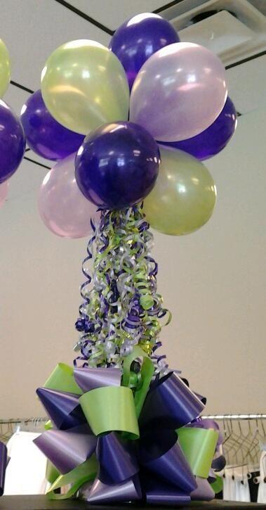 Balloon centerpieces balloons pinterest balloon for Helium balloon centerpieces