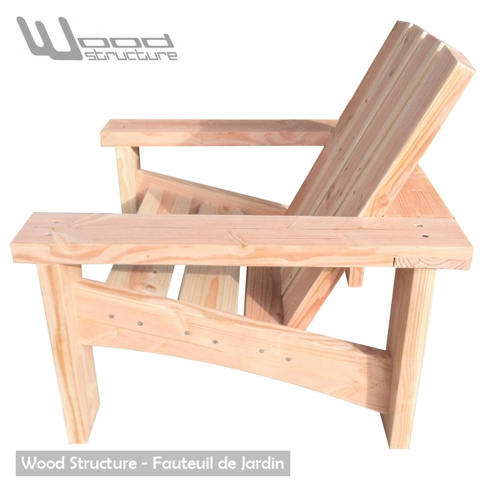 Fauteuil Douglas - Fauteuil de jardin Wood Structure - | Bänke und ...