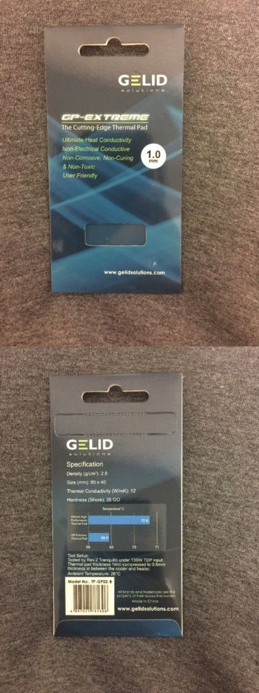 Thermal Compounds and Supplies 46322: Gelid Solutions Gp