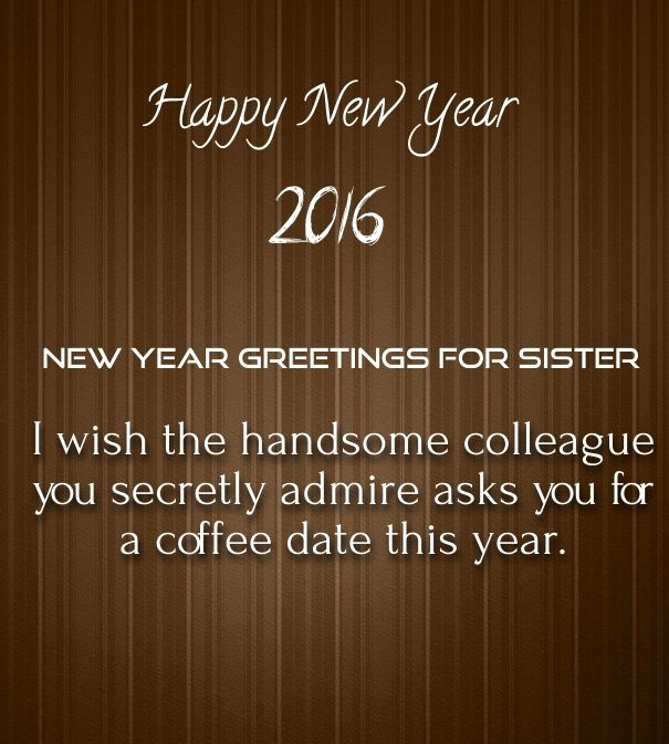 new year messages for sister 2016