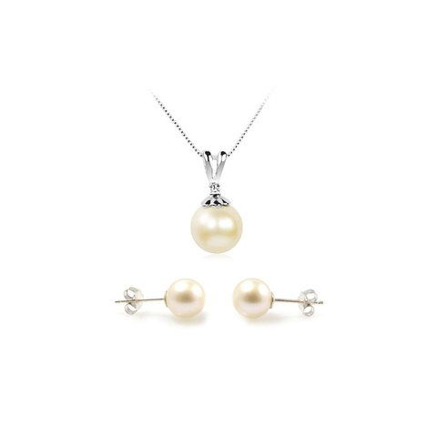 This delicious combination of two of our favourite wedding jewellery make quite an impact. The very large 10mm freshwater pearl used in Deborah Kerr, same as those 9mm ones in Lucy Royale, are of the absolute best quality - AAA rating.   This fantastic wedding set is offered at a 10% discount based on individual prices of items. Our standard 14-day no-quibble returns and exchange policy also applies.