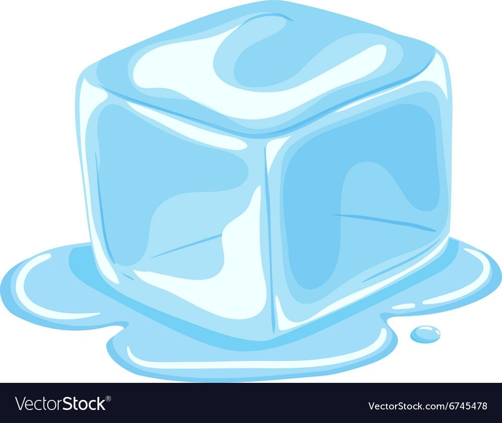Piece Of Ice Cube Melting Vector Image On Vectorstock Ice Cube Melting Ice Cube Drawing Ice Drawing