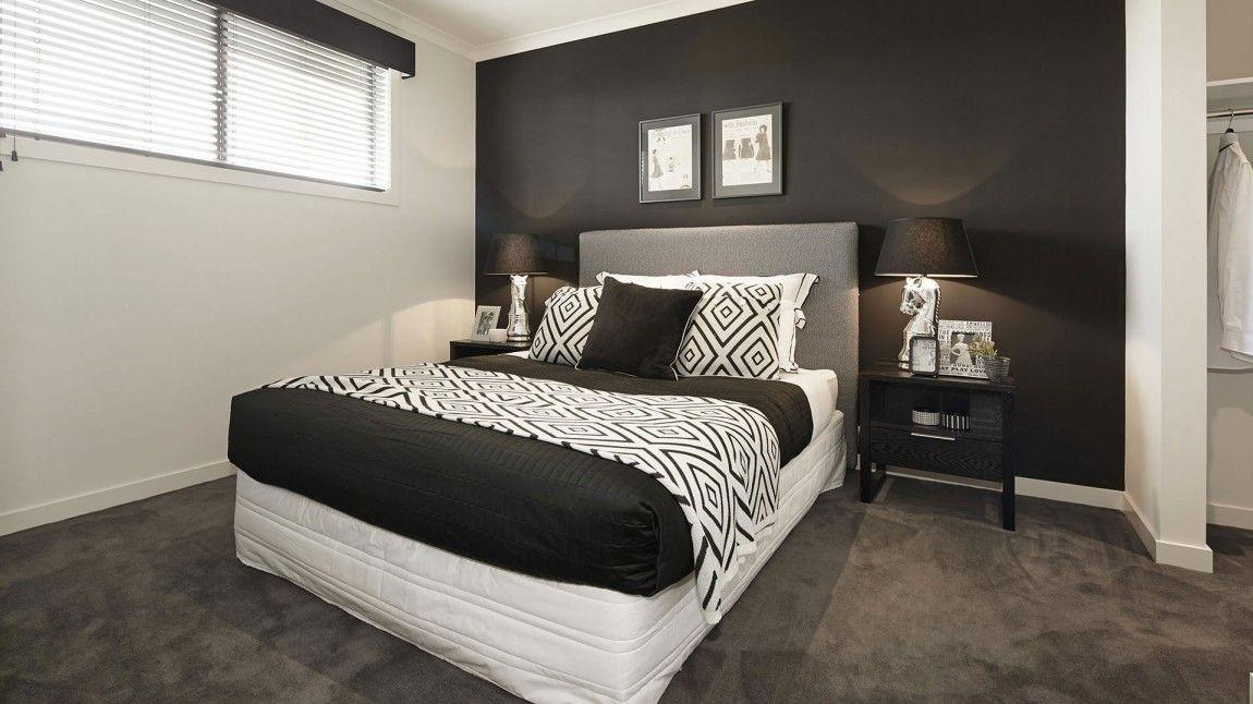 chambre-noir-blanc-mur-noir | Déco chambre noir et blanc ...