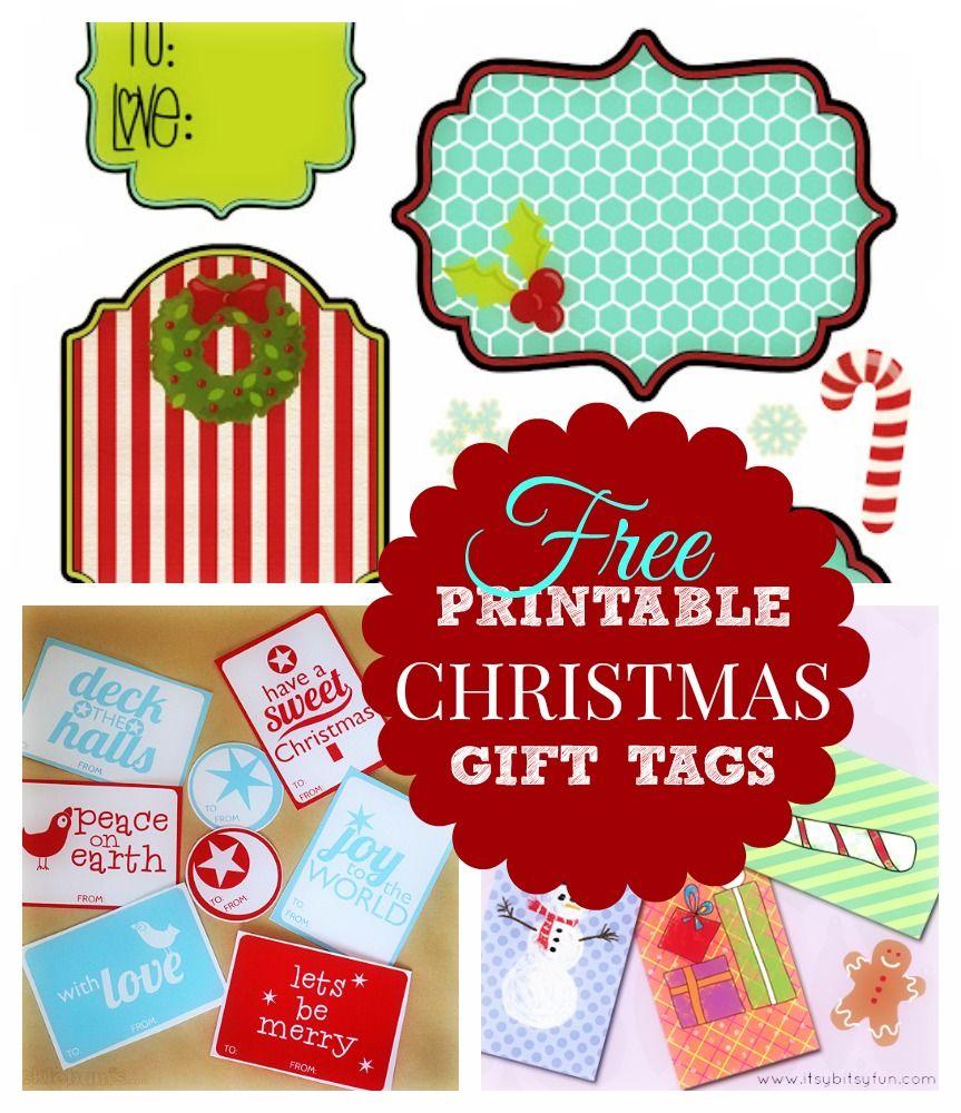 My Christmas Gifts: Cute & Modern Printable Christmas Gift Tags