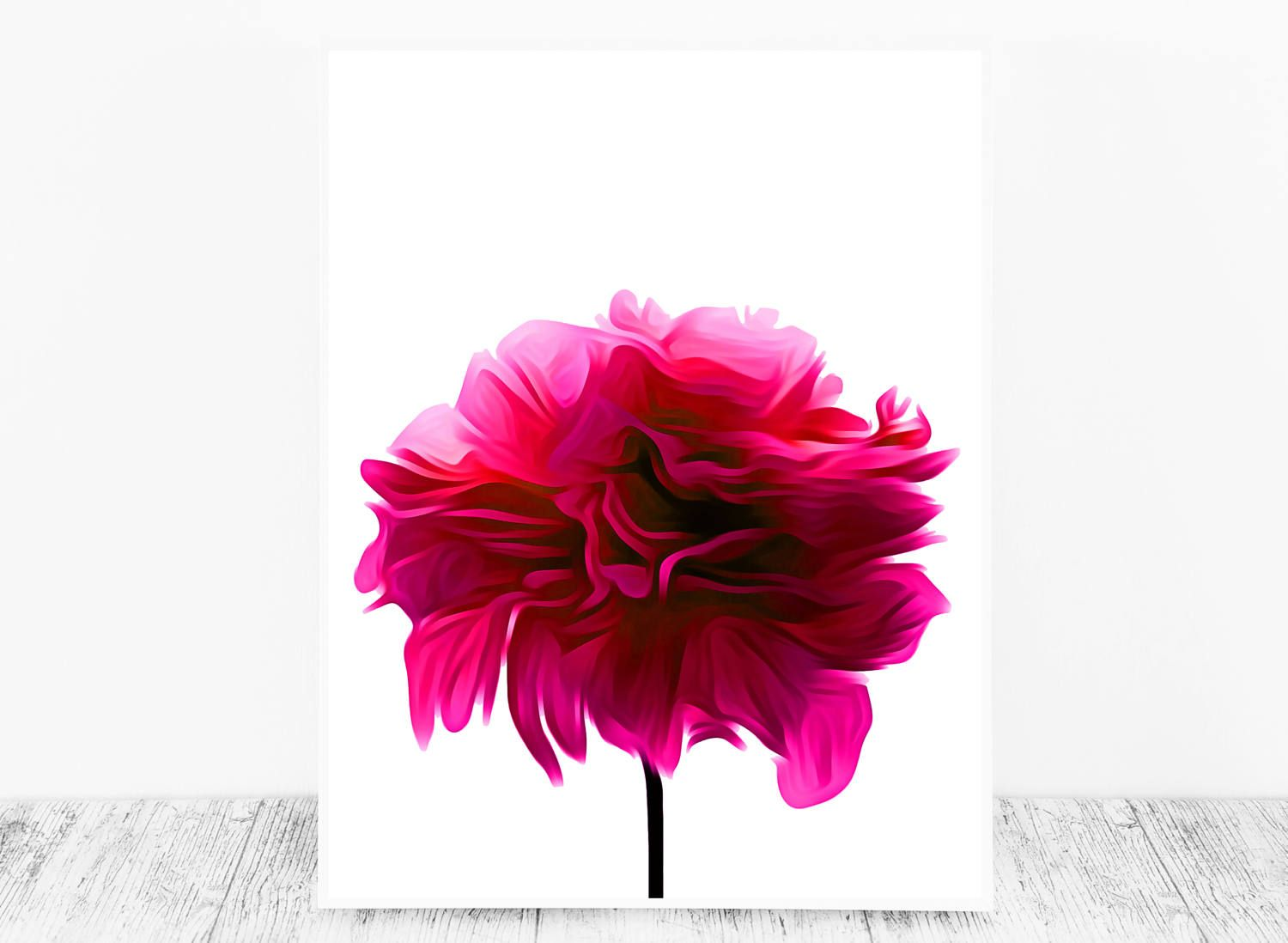 This Lovely Hot Pink Flower Print is an excellent Decor Idea if you ...