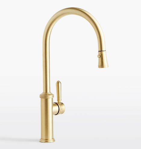 Culinary Pull Down Kitchen Faucet Rejuvenation Kitchen Faucet Gold Kitchen Faucet Brass Kitchen Faucet Satin brass kitchen faucet