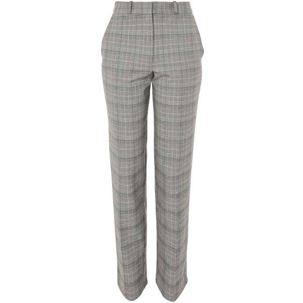 3753d41d930ca Topshop Check Tapered Leg Suit Trousers ( 65) ❤ liked on Polyvore featuring  pants