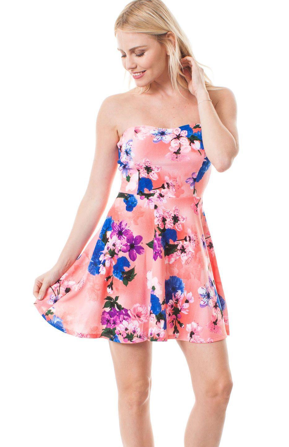 22db28e140d Mini Peach Sweetheart Dress from Hippies Hope Shop